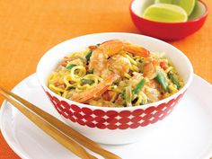 Curried Prawns with Singapore Noodles Recipe Prawn Recipes, Noodle Recipes, Asian Recipes, Ethnic Recipes, Singapore Noodles Recipe, Ginger Green Beans, Coconut Curry, Coconut Milk, Pea And Ham Soup