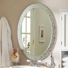 Frameless Crystal Wall Mirror - 23.5W x 31.5H in. - Wall Mirrors at Hayneedle