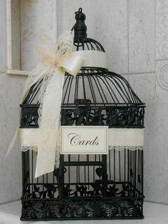 Large Black and Ivory Wedding Card Box / Wedding Card by ThoseDays, $68.00