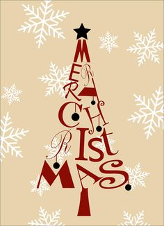 Christmas Tree Letters - Business Christmas Cards from CardsDirect