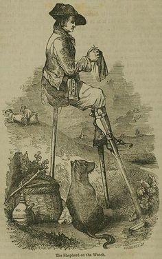 Sheperd knitting 1855