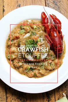 Get this recipe for Louisiana Crawfish Étouffée and watch the instructional cooking video! It tastes so good! Creole Recipes, Cajun Recipes, Seafood Recipes, Healthy Recipes, Louisiana Recipes, Southern Recipes, Southern Food, Southern Comfort, Cajun Cooking