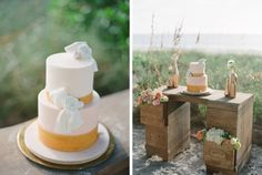 What a fabulous way to display the cake!  The drawers with flowers- beautiful!
