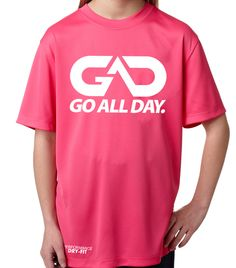 Youth DRY-FIT Performance Tee (Pink)