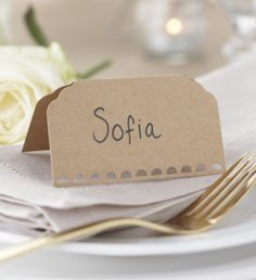 Mi Emporium - Plain Kraft Place Cards - Coming Soon