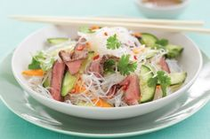Steak is given an international twist in this crunchy, colourful salad that's so easy to make and budget-friendly, too.