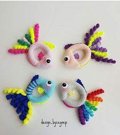 Погремушки рыбки ручной работы |  Вязаные погремушки |  вязаные игрушки |  ручная работа |  подарок ручной работы для самых маленьких |  развивающая игрушка - TC Ayşe Koç - #Ayşe #Koç #TC #Вязаные #для #игрушка #игрушки #маленьких #Погремушки #подарок #работа #работы #развивающая #ручная #ручной #рыбки #самых Crochet Baby Toys, Newborn Crochet, Crochet Animals, Crochet Dolls, Baby Knitting, Love Crochet, Crochet For Kids, Knit Crochet, Crochet Crafts