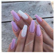 Purple And Silver Nails, Purple Glitter Nails, Purple Acrylic Nails, Acrylic Nails Coffin Short, Sparkle Nails, Summer Acrylic Nails, Best Acrylic Nails, Glitter Nail Art, White Nails