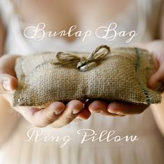 make your very own burlap bag ring pillow!