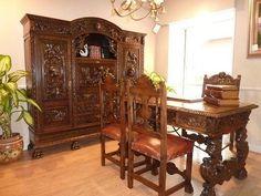 1000 images about muebles estilo clasico on pinterest traditional furniture leather books - Muebles despacho clasico ...