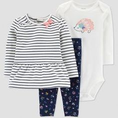 09eb749eed1b Baby Girls' Navy Stripe Set - Just One You® made by carter's Blue Newborn :  Target