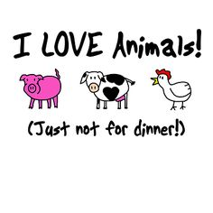 I love being a vegetarian! <3