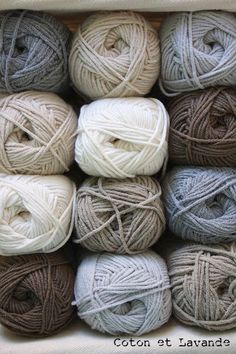 Like these neutral colored yarns together.