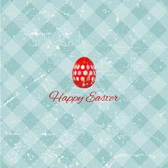 Grunge Easter Background Free Vector