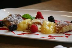 Cheese Blintzes with Lemon Curd