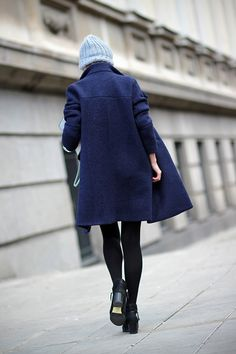 Pinstripes and Lace detail/ coat Choies http://www.choies.com/product/oversize-longline-coat-in-blue , anke boots Choies http://www.choies.com/product/black-zip-ankle-boots-with-ponyskin