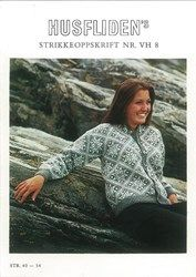 From Rauma Yarn and Husfliden Knitting Stiches, Sweater Jacket, Yarn Crafts, Mantel, Knitting Patterns, Knitting Ideas, Needlework, Free Pattern, Knit Crochet