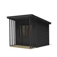 Shed Roof Design, Black Shed, Workshop Shed, Sauna Design, Back Garden Design, Modern Shed, Outside Bars, Playhouse Outdoor, Backyard Sheds
