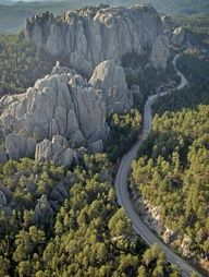 South Dakota - Needles Highway is a National Scenic Byway which was completed in 1922 and includes 14 miles of sharp turns, low tunnels and impressive granite spires. The road lies within the acre Custer State Park, just 30 miles south of Rapid City. Wyoming, Oh The Places You'll Go, Places To Travel, Places To Visit, Travel Destinations, Colorado, Nebraska, Needles Highway, South Dakota Vacation