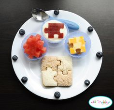 I have to find a puzzle cookie cutter set now. Not just for this. I think it would be great for cakes too.