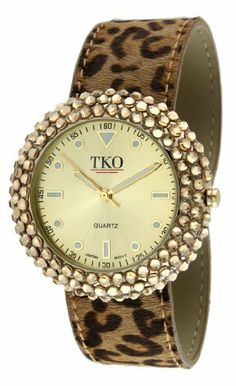 TKO ORLOGI Women's TK618LP Leather Slap Leopard Crystal Watch TKO. $69.99. Easy on and off. Luminous hands. Genuine swarovski crystal studded case. Genuine leather interchangeable slap bracelet. Super comfortable