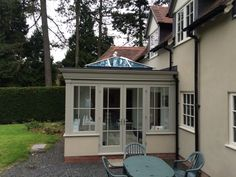 Timber Painted Orangery by Traditional Conservatories in Barnt Green Lean To Conservatory, Conservatory Ideas, Kitchen Orangery, Garden Room Extensions, Rear Extension, Conservatories, New Room, Garden Landscaping, Outdoor Ideas