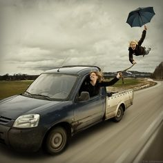 Erik Johansson - A human kite