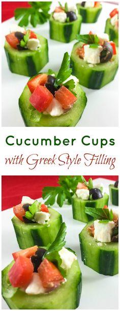 Cucumber cups are a