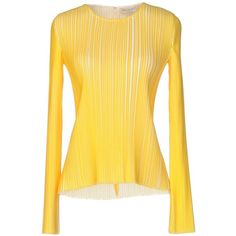 Emilio Pucci Blouse (3,375 HKD) ❤ liked on Polyvore featuring tops, blouses, yellow, emilio pucci blouse, emilio pucci, yellow long sleeve top, zip blouse and zipper blouse