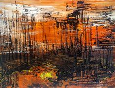 LA RED...cartulina pintada abstracta con cristal 30x40cm, cuadro original, Acrílico sobre Cartulina, comprar cuadros