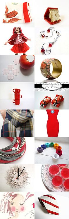 For the love of bright red!!!! Saturday shopping list by Angie Vintage