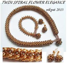 Twin Spiral Flowers Elegance