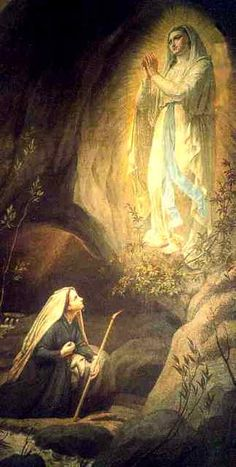On the Feast of the Apparition of Our Lady of Lourdes. More on this here … http://corjesusacratissimum.org/2015/02/feast-of-the-apparition-of-our-lady-of-lourdes-2/