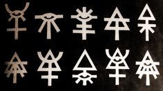Eldar runes from the year 40,000 apparently?