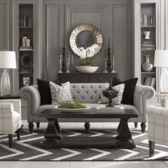 Cool 49 Gorgeous Luxurious Living Room Design For Luxury Home Ideas. More at https://decoratrend.com/2018/05/22/49-gorgeous-luxurious-living-room-design-for-luxury-home-ideas/