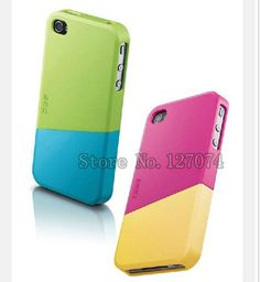 New Design EGO Free Combination Candy Contrast Color Hard Back PC Material Phone Cases Cover for iPhone 4 4s