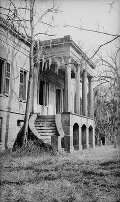 abandoned southern mansion . .