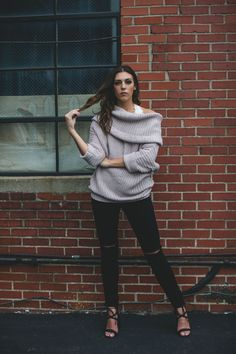 The Mauve Fold Over Ribbed Sweater will keep all my ladies heading back to campus warm and cozy this fall. It is perfect for those long walks across campus during those chilly fall days. Mauve Fold Over Ribbed Sweater - Single Thread Boutique, $48.00  #mauve #fold #over #ribbed #sweater #open #neck #knit #slimming #pattern #bulky #sleeves #trendy #fall #casual #singlethreadbtq #shopstb #boutique