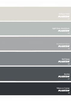^= ❤ Plascon Essential Collection ~ The Neutrals: Greys Plascon Paint Colours, Grey Paint Colors, Room Colors, Wall Colors, House Colors, Bali, Church Stage Design, Beach Color, Home Reno