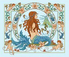 LJT112 Fantasy Mermaid | Lesley Teare Needlework and Cross Stitch Chart Designs