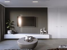 argument about modern tv feature wall interiors 120 Living Tv, Living Room Tv Unit, Condo Living, Home And Living, Living Room Decor, Apartment Interior, Apartment Design, Tv Wall Design, House Design