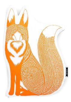 Magic Trickster Pillow. What does this fox pillow say about your decor? #orange #modcloth