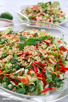 Chinese Salad with Crunchy Peanut Ginger Dressing Recipe on Yummly