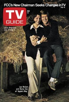 TV Guide cover July Apple's Way cast. 1970s Tv Shows, Old Tv Shows, Kids Shows, Tv Guide Listings, Ronny Cox, Flip Wilson, 80s Tv, Classic Tv, Looking Back