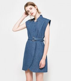 C/MEO Collective Stay Cool Pinstripe Dress