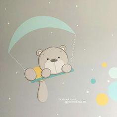 Panda Nursery, Nursery Art, Baby Canvas, Baby Clip Art, Cartoon Stickers, Baby Box, Baby Cartoon, Applique Patterns, Mural Art