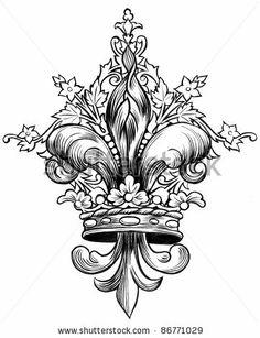 Fleur-De-Lis (Hand Drawn) Stock Photo 86771029 : Shutterstock