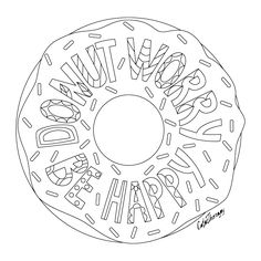 typography donut dont forget to check it out tomorrow and show us your creative ideas color - Donuts Coloring Pages