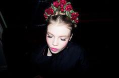 Beautiful Morgane Warnier at the backstage of Ulyana Sergeenko Couture fall2012 show © Nikolay Zverkov