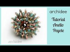 ▶ Peyote | Tutorial | Anello Riccio di Rizo o di Magatama + SuperDuo o Twin Beads | DIY Beadwork - YouTube